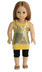 golden shimmer outfit tights tunic fits