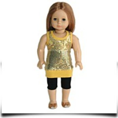 Discount Golden Shimmer Outfit Tights And Tunic